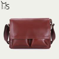 2014 Real Solid Cover Bolso Handbag Bolsa 2015 New Men's Bags Shoulder Bag for Men 100% High Quality Genuine Leather Messenger