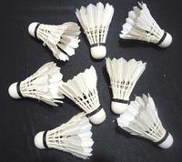 60PCS White Sport Goose Feather Shuttlecocks Birdies Badminton