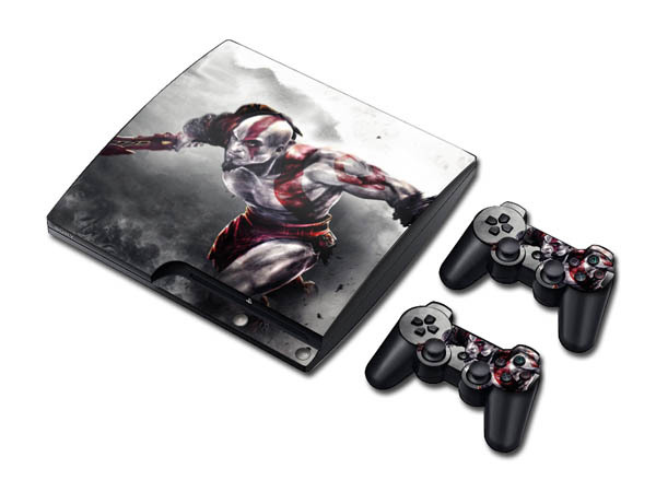 1Set Free Shipping Vinyl Decal Skin Stickers for PlayStation 3 PS3 Console Slim+ 2PCS Stickers for PS3 Controller Games PSS09(China (Mainland))