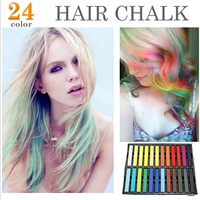 Exported to Europe and high quality hair soft pastel chalk pen 24 color hair coloring Hair chalk stick
