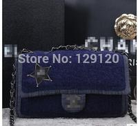New 2014 women hot selling female  fashion denim Messenger Bags travel bag free shipping