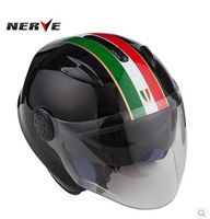 Germany NERVE imported carbon fiber Kevlar helmet half helmet motorcycle helmet safety sunscreen double lens free shipping