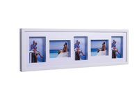 5 Multi-Frames Wall Frame  5X7inch  and 5 Openning Frame  photo frames white color