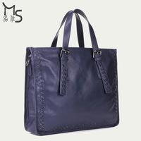 Men Handbags Totes Soft 2014 Promotion Freeshipping Handbag 100% Genuine Leather Men Bag 15.5 Inch Laptop for Classic 2015 New