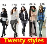 New Leggings Women Arrival Casual Warm Winter autumn 2014 Velvet Legging Knitted Thick Slim Leggings Super Elastic Twenty Styles