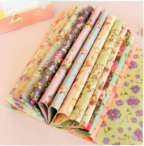 30.4*22.5cm DIY Scrapbooking Paper floral Paper Folding Decoration photo album birthday card making(China (Mainland))