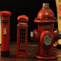 Free shipping 3 pcs/set Posting hydrant booth model creative piggy bank