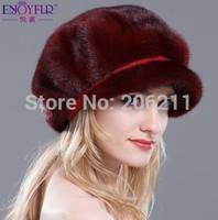New Fashion The Latest Design Mink Fur Hat Hight Qualtiy Luxurious Whole Marten fur Cap