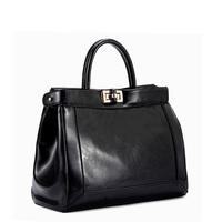 HOT 2014 New Designer genuine leather bag women leather handbags brand women messenger bags black hooks bolsas femininas fashion