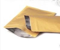 10x15cm, 100pcs/lot  Kraft paper bag aluminum foild inside flat bottom tea bag food packing bags free shipping