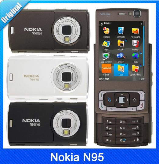 Original Nokia N95 WIFI GPS 5MP 2.6''Screen WIFI 3G Unlocked N95 Mobile Phone(China (Mainland))