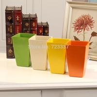 Resin plastic pots/Simulation flower vase/Decorative flower plastic flower/Rome series square pots home decoration