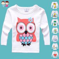 Min order any 2pcs in shop sz70~100 baby cartoon t-shirt  child tops tees children clothing boys girls long sleeve t-shirts