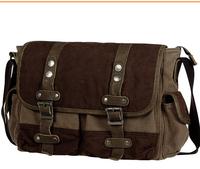 High quality excellent vintage canvas messenger bags ,fashion men cross body shoulder bags L143AB02