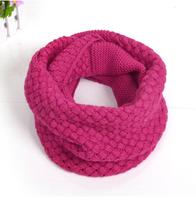 Girls acrylic Sleeve head scarf Korean female winter warm winter wool scarf Women neckerchief wholesale unisex cross twist