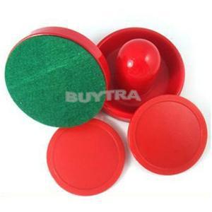 2014 Brand Air Hockey Table 50mm Pucks 67mm Goalies Felt Pusher Set New Fashion 2PCS Mini red Air Hockey Pusher mallet(China (Mainland))