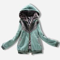 2014 Promotion Sale Winter Jacket Women Down Coat Women Winter Long Sleeve Hoodies Thicken Knitting Zipper Female Lsy003