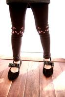 7617 Korean version of the cute little kitty printing Tong knee pants leggings pantyhose