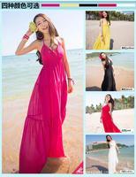 2014 Special Offer Vestido De Festa Women Dress Free Shipping New Summer 3 Colors Sleeveless Long Dress Women Beach 5083