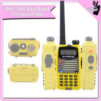 2014 5WYellow UHF and VHF baofeng UV5RA-PLUS transceivers