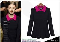 European style new women Slim lapel sweater pullover sweater skirt wild