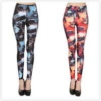 1650 European and American stars of the new universe Planet milk silk printing leggings leggings