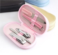 2014 New Nail Tools 6 In 1 Portable Stainless Steel Nail Care Tool Set Nail Clipper Scissors Cutter Nail Art Decorations