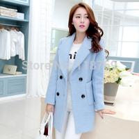 2014 Autumn And Winter Coat Women Long Wool Coat Slim Small Fragrant Wind Korean Jacket Female Tide Woolen Coat  Women
