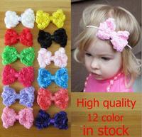 New 2014 fashion 8cm chiffon  flower accessories for hair kids DIY bow hair accessories