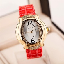 Free shipping! Concise leather lady watch , Fashion casual quartz wrist watch, Fashion jewelry