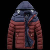 Winter Coat Men quilted black puffer jacket warm fashion male overcoat parka outwear cotton padded hooded down coat