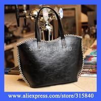 1pc New 2014 PU Red Women Leather Handbags Desigual Bag Shoulder Bags Bolsas Femininas Travel Handbag -- BIA088 PA33 Wholesale