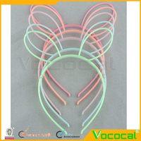 50PCS Cute Luminous Plastic Rabbit Ear Hairband Halloween/Christmas Dress up Decoration Headband Hair Head Band, Random Color