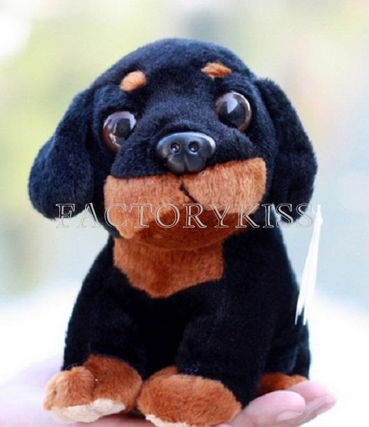 мягкий черный щенок щенок животное игрушки