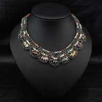 Wholesale Vintage Perfume Women Jewelry Fashion Accoessories Violetta Crystal Handmade Collars Statement Collar Necklace