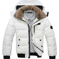 free shipping Men winter autumn coat Short hooded thick cotton clothes elegant down coat