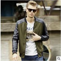 2014 hot sale men jacket Men's PU coat fashion style jacket wholesale business and leisure jacket