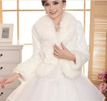 formato libero avorio accessori da sposa faux fur da sposa inverno coat wrap shrug bolero scialle nuziale(China (Mainland))