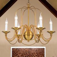 European Classics Retro Chandelier 6 Candle BulbsPendant Lights Lamp Lighting  Bulbs Bar Restaurant Bedrooms E27