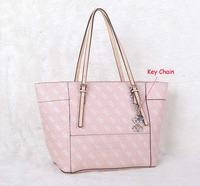 New women famous brands Women's Delaney Logo Affair  Classic Tote Handbag Shoulder bag NWT