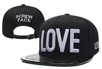 2014 new black hat with love letter adjustable baseball snapback hats & caps for men/women fashion brand hip hop sun cap cheap