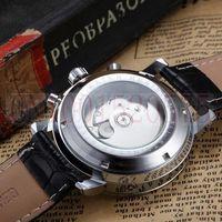 2014 Hot Sale Jaragar Multifunction  Automatic Mechanical Watch Luxury Brand Mens Watch Date