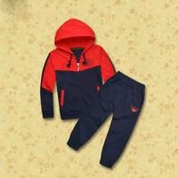 Wholesale  Brand  2014  New  fashion  spring/autumn  children's  suit  coat+pants  long  sleeve  hooded  zipper  boy's  suit