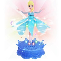 EMS free Wholesales 24pcs Flying Frozen Princess Elsa Doll Infrared Induction Control With Light  music New Hot sell Gift Toys