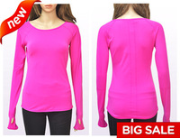 New hot selling top quality nylon and spandex women fitness/yoga/sports long tees