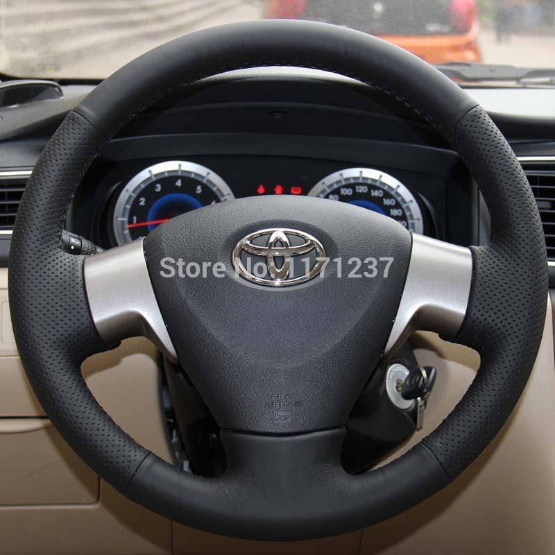 genuine leather steering wheel cover promotion online shopping for promotiona. Black Bedroom Furniture Sets. Home Design Ideas