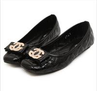 new Women Ballet Flat Shoes Woman Flats sapatilhas 100% Soft Leather Shoes sapatos femininos 2014 Ballerinas Black Brand Fashion