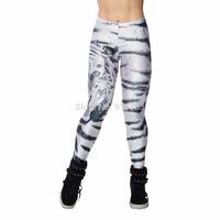 women Leggings 2014 Unique Mighty tiger head pattern printed sexy Leggings women Digital Printing sport Leggings for women,yd5