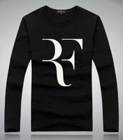 100% cotton Roger Federer t-shirt RF 2014 Tennis t-shirt men short long sleeve t shirt high quality with free shipping