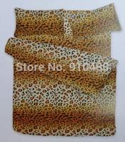 Free shipping! Leopard Printing Bedding 160*200+20cm  (1 pcs Bedspread +2 pcs pillow case)